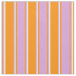 [ Thumbnail: Dark Orange, Plum, and White Colored Pattern Fabric ]