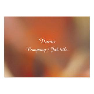 Dark Orange Sweet Abstract Paint  Reasonable Large Business Card