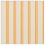 [ Thumbnail: Dark Orange & Tan Colored Lined/Striped Pattern Fabric ]
