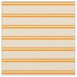 [ Thumbnail: Dark Orange & Tan Stripes Fabric ]