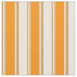 [ Thumbnail: Dark Orange, White, and Grey Colored Pattern Fabric ]