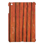 dark orange wood iPad mini case
