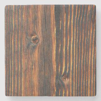 Dark orange wooden wall texture stone coaster