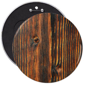 Dark orange wooden wall texture pinback button