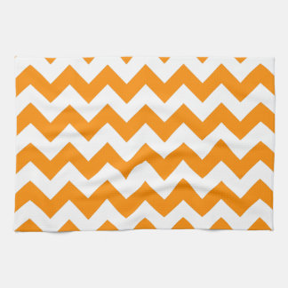 Dark Orange Zigzag Kitchen Towel