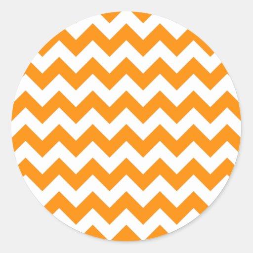 Dark Orange Zigzag Sticker