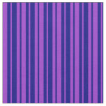 [ Thumbnail: Dark Orchid and Blue Lines Pattern Fabric ]