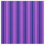 [ Thumbnail: Dark Orchid and Blue Striped/Lined Pattern Fabric ]