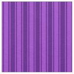 [ Thumbnail: Dark Orchid and Indigo Colored Stripes Fabric ]