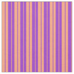 [ Thumbnail: Dark Orchid and Light Salmon Colored Lines Fabric ]