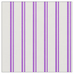 [ Thumbnail: Dark Orchid and Mint Cream Pattern of Stripes Fabric ]