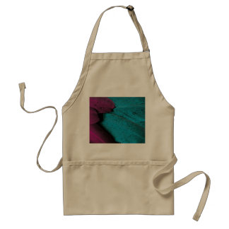 Dark Orchid and Teal Plumage Adult Apron