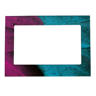 Dark Orchid and Teal Plumage Magnetic Photo Frame