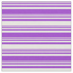 [ Thumbnail: Dark Orchid and White Colored Lines Fabric ]