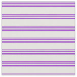[ Thumbnail: Dark Orchid and White Striped Pattern Fabric ]