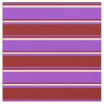 [ Thumbnail: Dark Orchid, Dark Red, and Light Yellow Lines Fabric ]