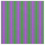 [ Thumbnail: Dark Orchid & Forest Green Colored Pattern Fabric ]