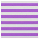 [ Thumbnail: Dark Orchid & Lavender Colored Stripes Fabric ]