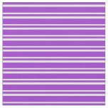 [ Thumbnail: Dark Orchid & Light Yellow Lines/Stripes Pattern Fabric ]