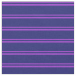[ Thumbnail: Dark Orchid & Midnight Blue Striped/Lined Pattern Fabric ]