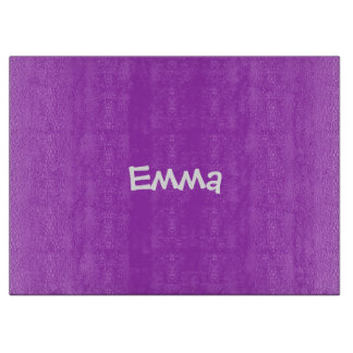 Dark Orchid Personalized Glass Cutting Board
