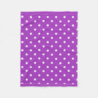 Dark Orchid Polka Dot Fleece Blanket