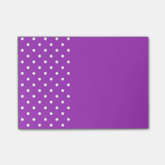 Dark orchid Polka Dots Post It Notes Post-it® Notes
