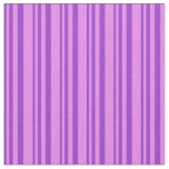[ Thumbnail: Dark Orchid & Violet Colored Stripes Fabric ]