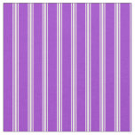 [ Thumbnail: Dark Orchid & White Colored Lines Pattern Fabric ]