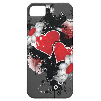 Dark Ornate Hearts iPhone SE/5/5s Case