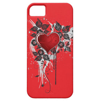 Dark Ornate on Red Heart iPhone SE/5/5s Case