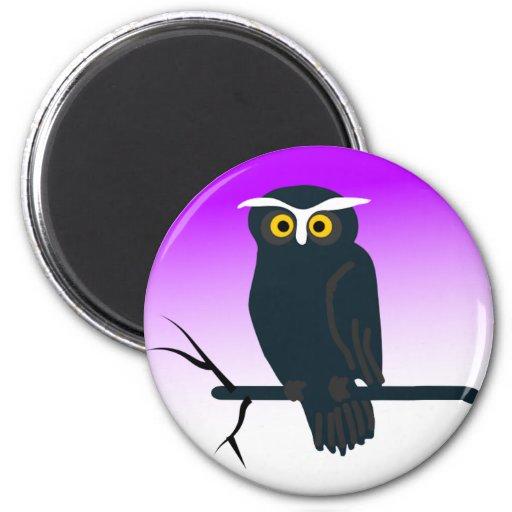 Dark Owl Fridge Magnet