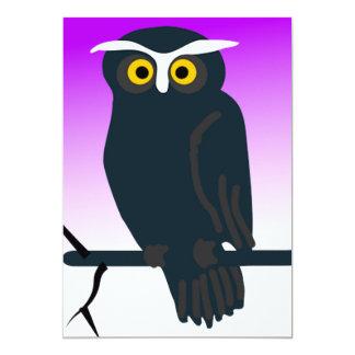 Dark Owl 5x7 Paper Invitation Card