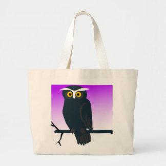 Dark Owl Large Tote Bag