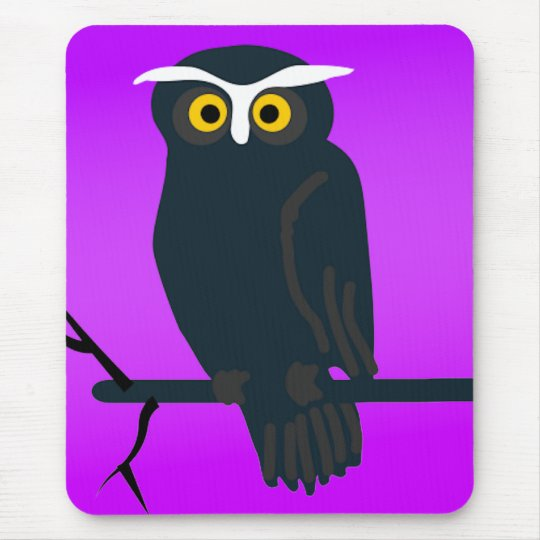Dark Owl Mouse Pad