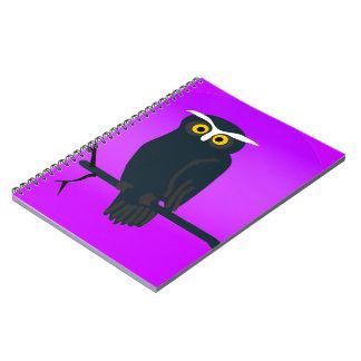 Dark Owl Spiral Notebook