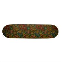 Dark Paisley Skateboard Deck