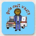 Dark Paramedic Girl Coaster