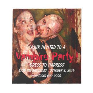 Dark Party Invite 1 Notepad