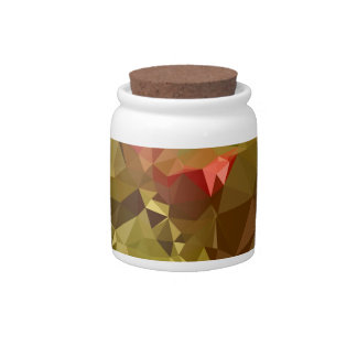Dark Pastel Green Abstract Low Polygon Background Candy Jar