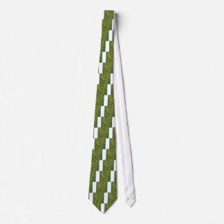 Dark Pastel Green Abstract Low Polygon Background Neck Tie