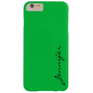Dark pastel green color background barely there iPhone 6 plus case