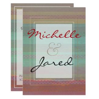 Dark Pastel Polka Dot Stripes Card