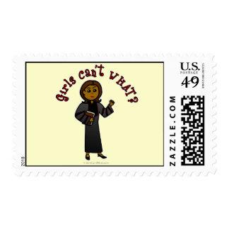 Dark Pastor Girl Stamps