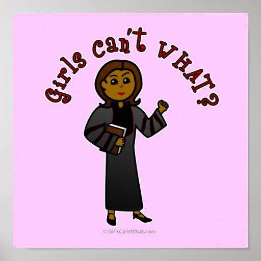 Dark Pastor Girl Posters