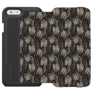 Dark pattern beautiful  Tulip florish design iPhone 6/6s Wallet Case