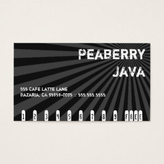 Dark Peaberry Java Drink Punch Card