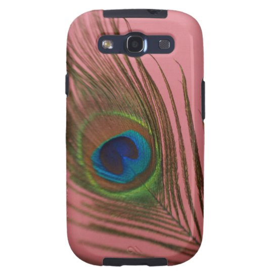 Dark Peacock Feather Galaxy S3 Cover