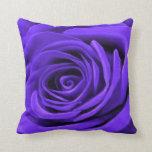 Dark Periwinkle Rose Pillows