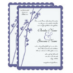 Dark Periwinkle Twilight Purple Wildflower Wedding Card